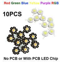 10pcs DIY High Power 3W LED COB Chip Light Beads LED Bulb Diodes Lamp