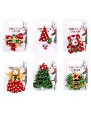 Flashing Christmas BELL BROOCH NOVELTY GIFT Badge stocking filler secret santa