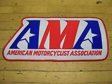 Vintage NOS AMA American Motorcycle Association Leather Jean Jacket Vest Patch