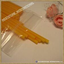 """50pcs 6"""" x 5/32"""" Plastic lollipop sticks for cake pops lollipop candy - 8 colors"""