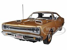 1969 DODGE CORONET  R/T BRONZE HEMI 50th ANNIVERSARY 1/18 BY AUTOWORLD AMM1024