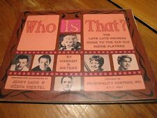 """Vintage 1967 Book WHO IS THAT? """"Guide Movie Players"""" early celebrity photos"""
