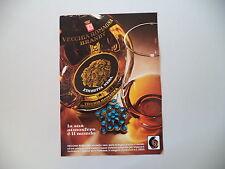 advertising Pubblicità 1972 BRANDY VECCHIA ROMAGNA ETICHETTA NERA