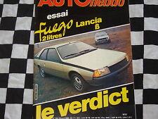 auto hebdo 1980 RENAULT FUEGO TX / LANCIA BETA COUPE 2000 / RALLYE SAFARI
