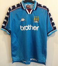 Manchester City 1997-1999 KAPPA Home Football Shirt Taille L
