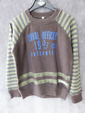 PULL SWEAT  NAVAL OFFICIER MARRON ♥ CAPTAIN TORTUE  ♥ T 6 ANS TTBE +++ ☺