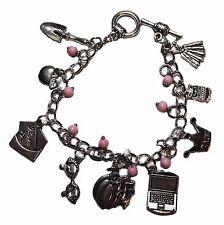 Pretty Little Liars Silvertone Metal Charm Bracelet