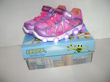 NIB Stride Rite Leepz Light Up Sneaker Kids Girls Shoes size 8.5 M Summer Purple
