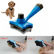 Self Cleaning Grooming Brush Pet Dog Cat Slicker Comb Hair Trimmer Fur Shedding