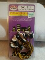 MODEL POWER - (20) PEEL & STICK BULBS - HO & N SCALE - 12-16 Volt   BRAND NEW!