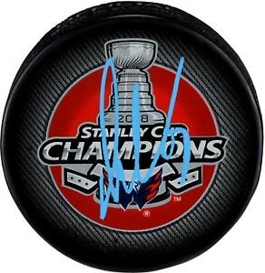 Alex Ovechkin Capitals 2018 SC Champs Signed SC Champs Logo Hockey Puck