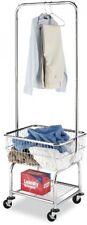 Laundry Organizer Cart Storage Butler Rolling Basket Heavy Duty Commercial Metal