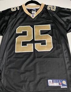 Authentic REEBOK New Orleans Saints Reggie Bush Stitched Football Jersey SZ Y L