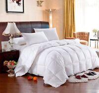 KING / CAL KING HUNGARIAN GOOSE DOWN Comforter, White Stripe, Egyptian Cotton