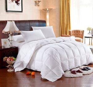 KING CAL KING HUNGARIAN GOOSE DOWN Comforter, White Stripe 100% Egyptian Cotton
