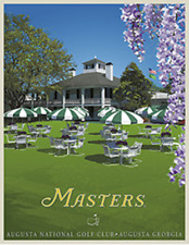 The Masters Vintage Poster - The Clubhouse Terrace 18 x 23.25 inches