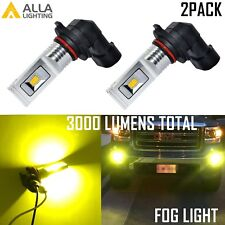 AllaLighting HB4 3000LM LED 3000K Yellow Driving Fog Light Lamp Bulb Replacement