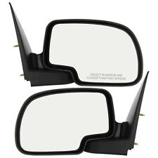 New Set of 2 Manual Operated Door Mirrors for Chevrolet / GMC Trucks 1999-2006