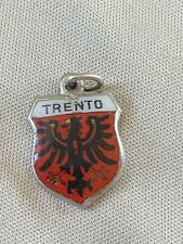 TRENTO Silver Travel Shield Enamel Charm
