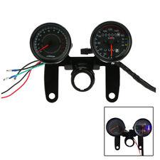 12V Motorcycle 13000 RPM Tachometer Km/h Speedometer Dual Odometer Gauge U4C0