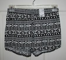NWT Girls Justice Black & White Rayon Shorts Size 18