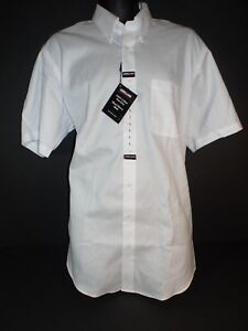 Kirkland Signature Mens Short Sleeve Non_Iron Dress Shirt White