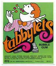 Leaf Tabbylets Bubble Gum Vending Machine Display Card 860-9131