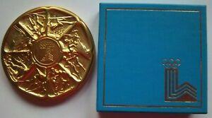 Orig.comemorative medal   Olympic W.Games LAKE PLACID 1980 / in Box  !!!  RARITY