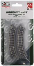KATO N Scale 20-176 UNITRACK Compact 117mm (4 5/8) Radius 45 degree Curve Track