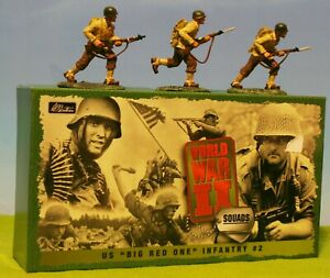 BRITAINS - WORLD WAR II SQUADS US BIG RED 1 INFANTRY #2 17457 LEAD SOLDIER MIB🔥