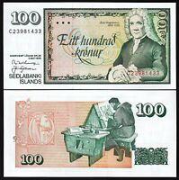 Iceland 100 Kronur 1961 1981, UNC, P-50, Sign 53