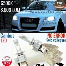 Kit Anabbaglianti LED H7 AUDI A3 8p Lampade CANBUS 6500K Bianco GHIACCIO sline