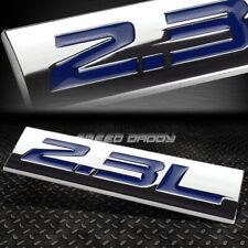 METAL GRILL TRUNK EMBLEM DECAL LOGO TRIM BADGE POLISHED CHROME BLUE 2.3L 2.3 L