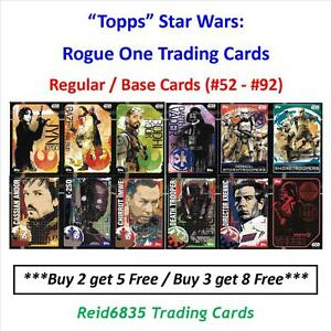 """""""Topps"""" Star Wars: Rogue One Trading Cards - Regular / Base Cards (#52 - #92)"""