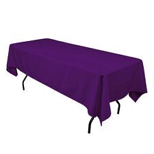"60"" x 126"" Rectangular Seamless Tablecloth For Wedding Restaurant Banquet Party"