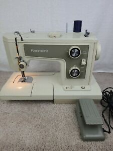 Vintage Sears Kenmore Portable Sewing Machine Model 148 with Case