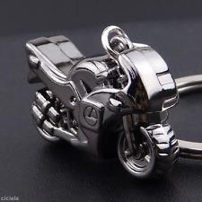 Fashion Gunmetal Metal Motorcycle Key Ring Chain Motor Creative Sports Keychain