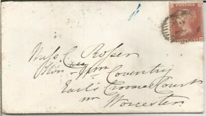 GB QV 1857 COVER PENNY RED STAR 'XE' FROM LONDON TO WORCESTER DT 23RD JAN 1857.