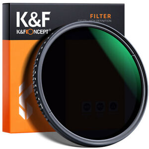 K&F Concept 49mm Variable Neutral Density ND8-ND2000 ND Optics Glass Filter