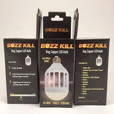 Cool White LED Bulb - Buzz Kill - Mosquito bug Zapper, Lures & kills insects
