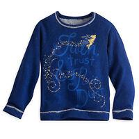 Disney Store Deluxe Tinkerbell Fleece Top Longsleeve T Shirt Girls Size 9/10 NWT