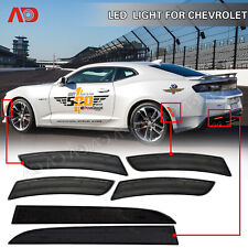 LED Side Marker Light Rear Bumper Reflector For Chevrolet Camaro 2016-2018 Smoke