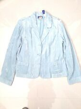 Women Blue JH Collectible  Long Sleeve Solid Jacket sz 16