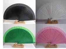 Fächer Handfächer Holzfächer Taschenfächer aus Holz und Stoff Klappfächer Sommer