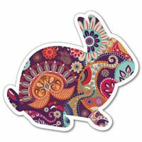 Colorful Rabbit  Sticker Decal Small Animal Funny Puffy Fluffy Zoo