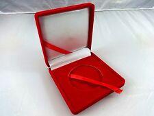 RED Velvet Presentation Display Case 2 inch stand Challenge Coin Poker Chip