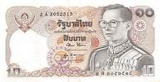 Thailand  10 Baht  ND. 1980  P 87  Prefix 2 A Sign. # 52  Circulated Banknote