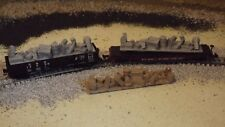 N-Scale 3 Unfinished Gondola/Freight Car Loads/1:16 0Detail Parts