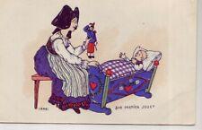CPA 67 68 HANSI  Maman ALSACIENNE Son premier Jouet - Bébé au Berceau J.J. WALTZ