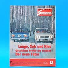 Der Deutsche Straßenverkehr 12/1973 Trabant Tatra 613 Tankstellenverzeichnis G